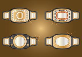 Campeão Set Belt vetor