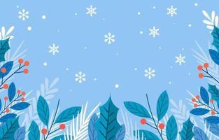 fundo floral da temporada de inverno