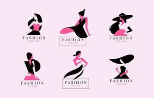 coleção de logotipo de moda e beleza vetor
