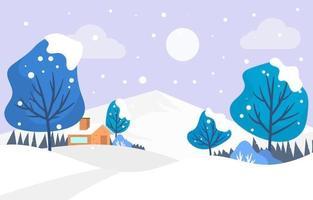 pequena vila durante o inverno