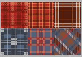 Flanela Tecido Pattern Vector a cores