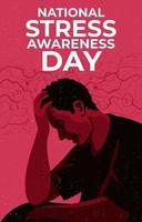 conceito do dia nacional de conscientização do estresse vetor