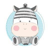 bebê zebra usando fantasia de prisão vetor