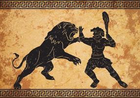 Hercules Primeiro Trabalho vetor