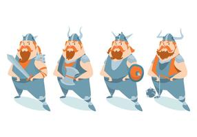 Conjunto de vetores de personagens Viking