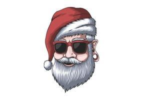 homem moderno usando um chapéu de Papai Noel no natal vetor