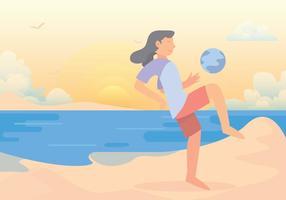 Vector de Futebol de Praia Set