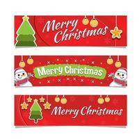 banner alegre do dia de natal vetor