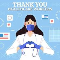 apreço por profissionais médicos e profissionais de saúde vetor