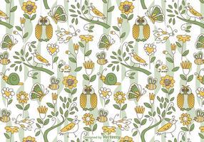 Background Vector Doodle Primavera