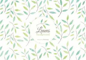Background Folhas aguarela e Ramos Vector