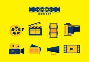 Vector de conjunto de ícones de caixas de filme