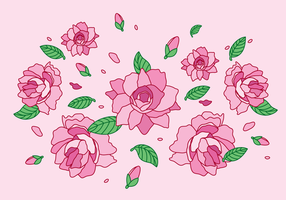 flor Camellia vetor