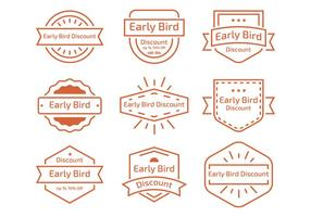 No início da etiqueta Bird Line vetor