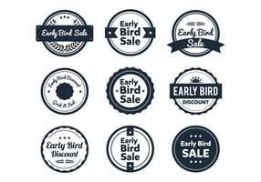 Etiqueta Early Bird vetor