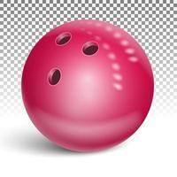 bola de boliche vermelha vetor