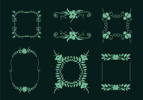 Vector Flower Embellishments