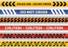Livre linha de polícia Vectors