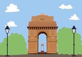 India Gate Vector grátis