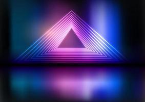 fundo de tela abstrato de néon vetor
