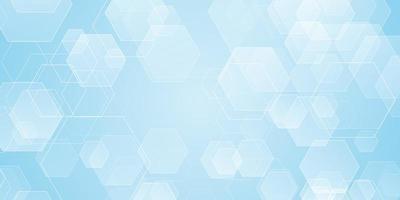 banner abstrato com formas hexagonais vetor
