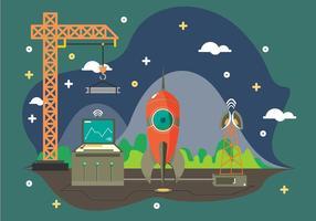 Espaço Livre Vector Plane Ilustração