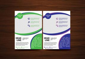 Vector Folheto modelo de layout de design em formato A4