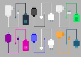 Livre carregadores de telefone Vector