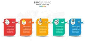 infográficos para o conceito de negócio com ícones vetor