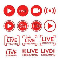 conjunto de símbolos de transmissão ao vivo