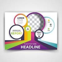 capa de folheto circular colorida vetor