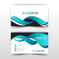 modelo de cartão de visita azul e preto vetor