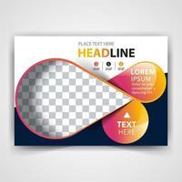 elegante design de capa de folheto vetor