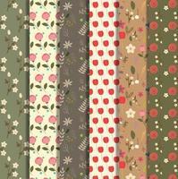 coleção padrão floral