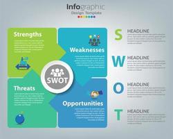 infográfico de negócios de análise swot vetor