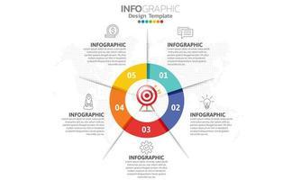 infográficos para o conceito de negócio com ícones
