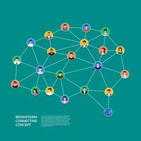 brainstorm conectando pessoas conceito vetor