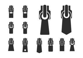 Set of different Zippers vetor
