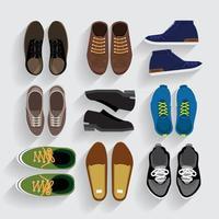 conjunto de sapatos gráficos vetor