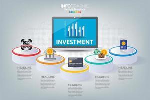 como infográfico de negócios de sucesso vetor