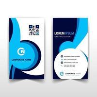 design de cartão corporativo vertical azul e preto vetor