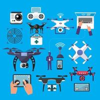 conjunto de drone e controlador vetor