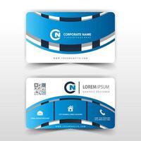 modelo de cartão de visita azul 3d criativo vetor