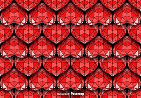 Teste padrão geométrico sem emenda dos corações Vector