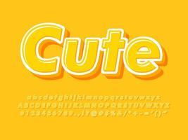 alfabeto amarelo em fundo amarelo vetor