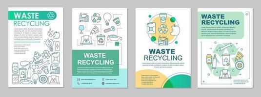 layout de modelo de folheto de reciclagem de resíduos vetor