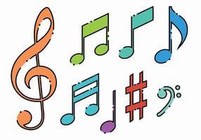 Brilhante Set Key violino vetor