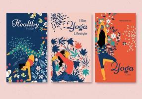 conjunto de folheto de estilo de vida de saúde vetor