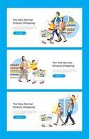 a nova página de destino normal de compras de supermercado