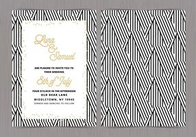 Vector Black and White Wedding convida